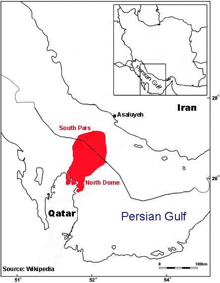 Poche de gaz Qatar-Iran Source Wikipédia